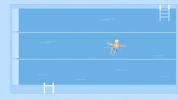 Locus de control — Conceptul de înot, copil care învață