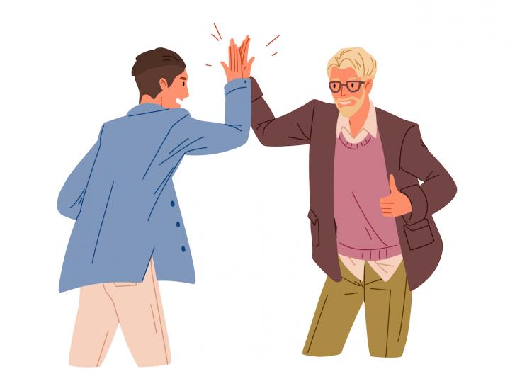Un tânăr și un mentor