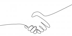 Strângere de mână, concept de reputație și încredere