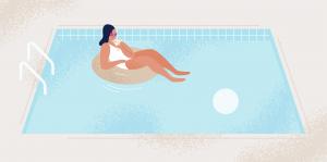 Pauză în piscină
