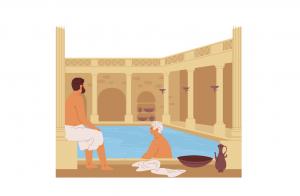 Despre efemeritate - scenă din Roma Antică