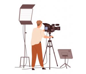Cameraman pe platoul de film