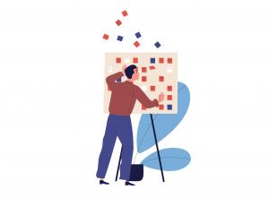 Care sunt prioritățile reale în planificare? - Bărbat și tablă