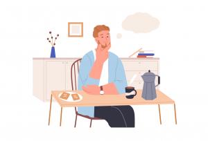 4 idei aleatorii - Bărbat gânditor