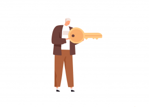 Om cu cheie
