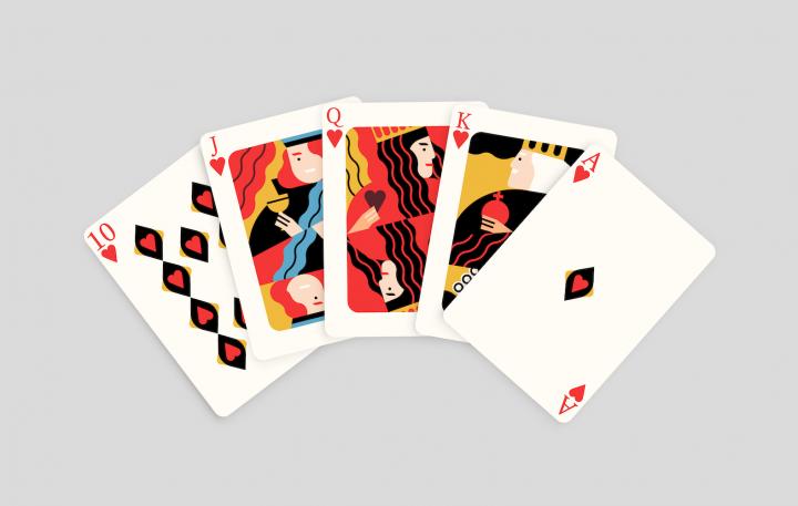 Cât contează norocul în viață? - Chintă roială la poker