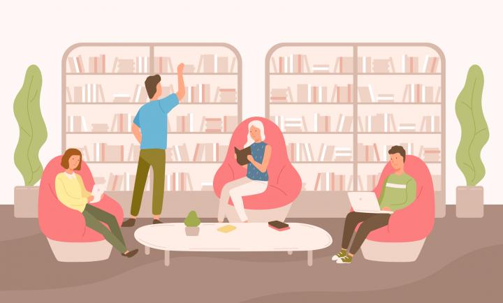 Bibliotecă - lectură