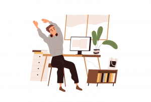 Conceptul de pauză la birou