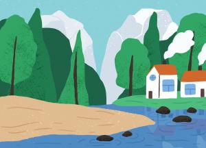 Pădure și casă