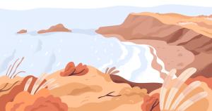 Plajă cu nisip și deșert