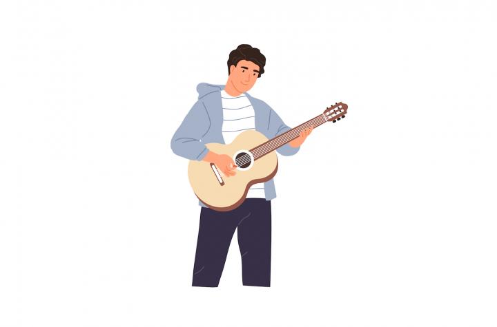 Bărbat cu chitară