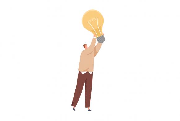Bărbat cu idei