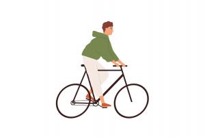 Bărbat pe bicicletă
