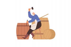 Bătrân care muncește la țară