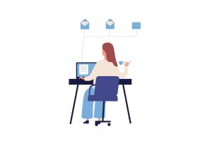 Femeie la birou, concept de organizare
